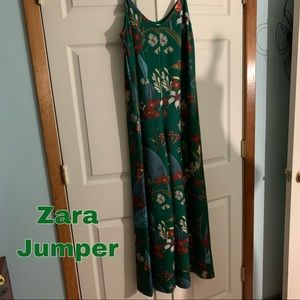 Zara size m medium green jumper romper pants